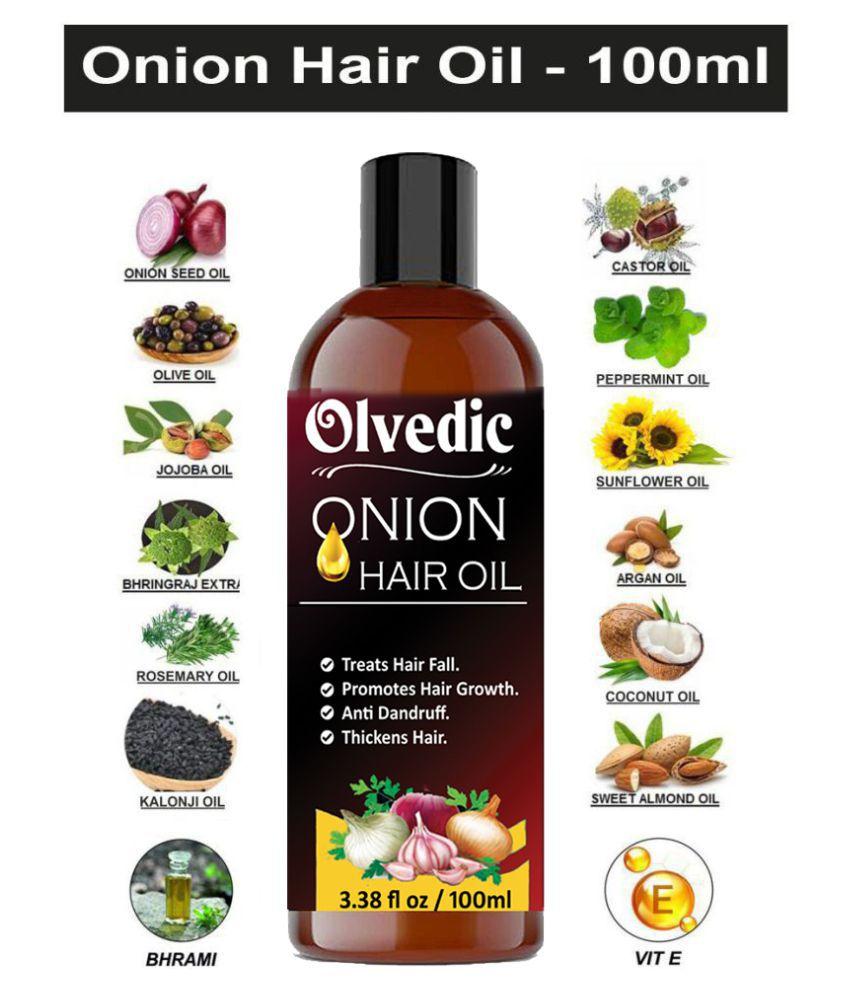 olvedic Pure & Natural ONION Herbal Oil (Regrowth Formula) 100 mL