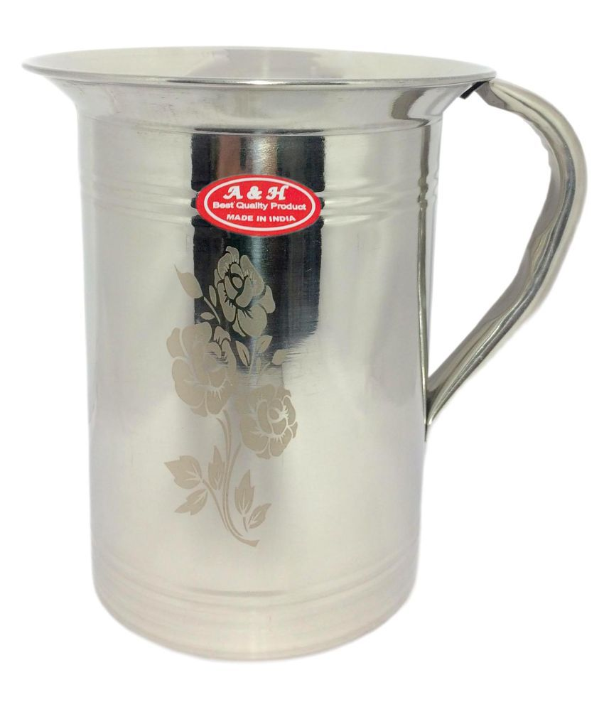 A&H Daily Use Laser Stainless Steel Jugs 2000 mL