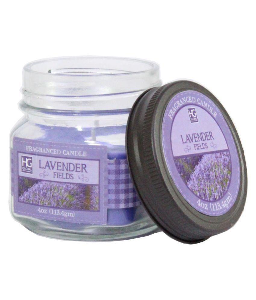 Hosley Purple Jar Candle - Pack of 1
