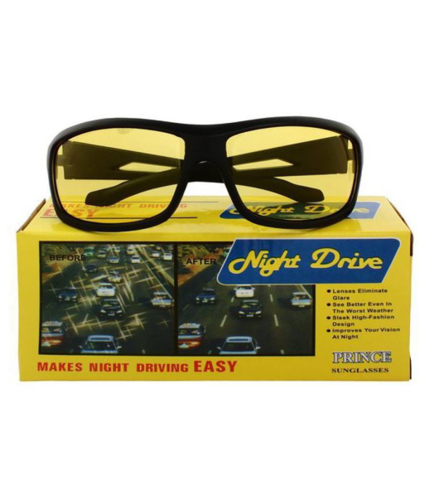 Night Vision Glasses Men and Women for Bike Riding and Car Driving  WITH YELLOW BOX PACKING