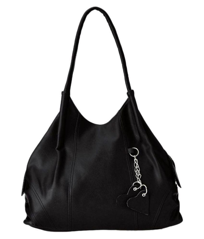 Fostelo Black Fabric Shoulder Bag