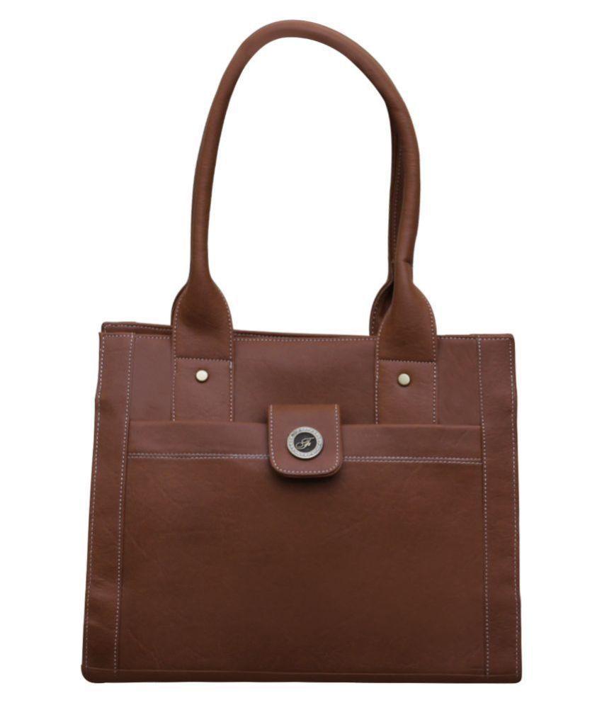 Fostelo Brown Fabric Shoulder Bag