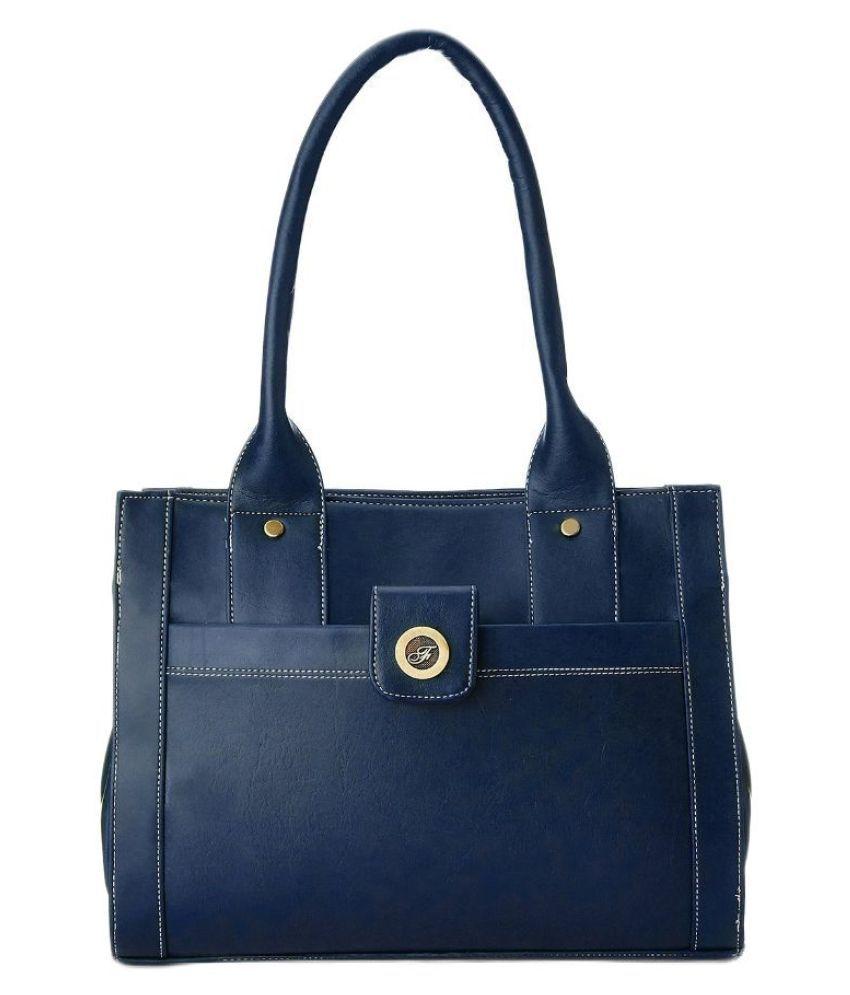 Fostelo Blue Fabric Shoulder Bag