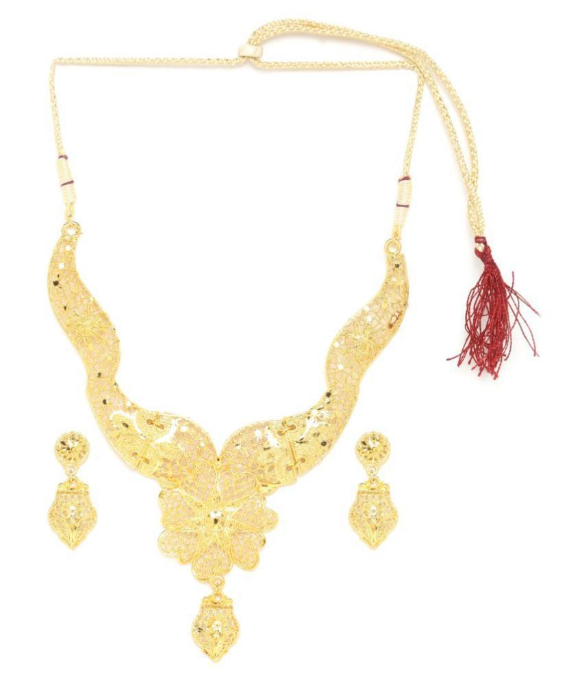 Zerokaata Alloy Golden Other Traditional None Necklaces Set