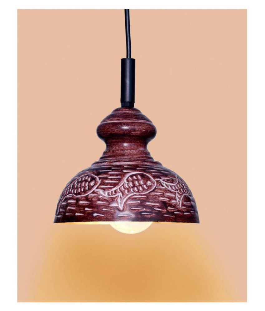 A&H Iron Fish Design Pendant Brown - Pack of 1