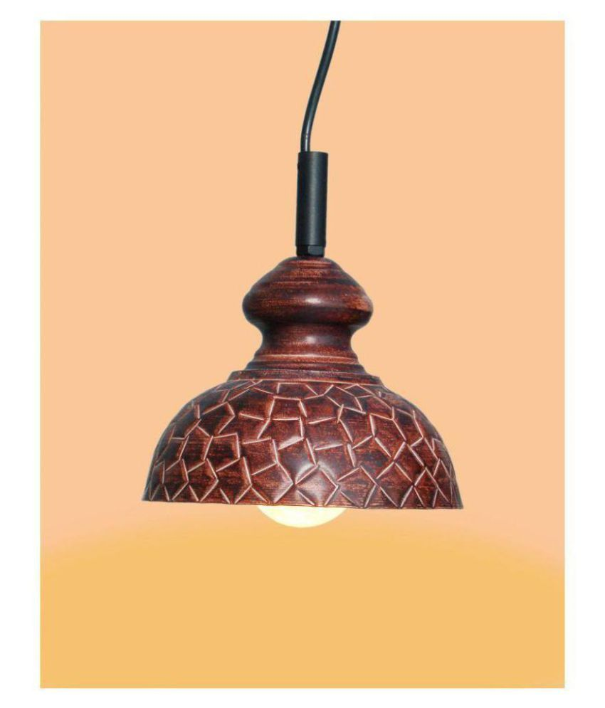 A&H Iron Geometrical Pendant Brown - Pack of 1