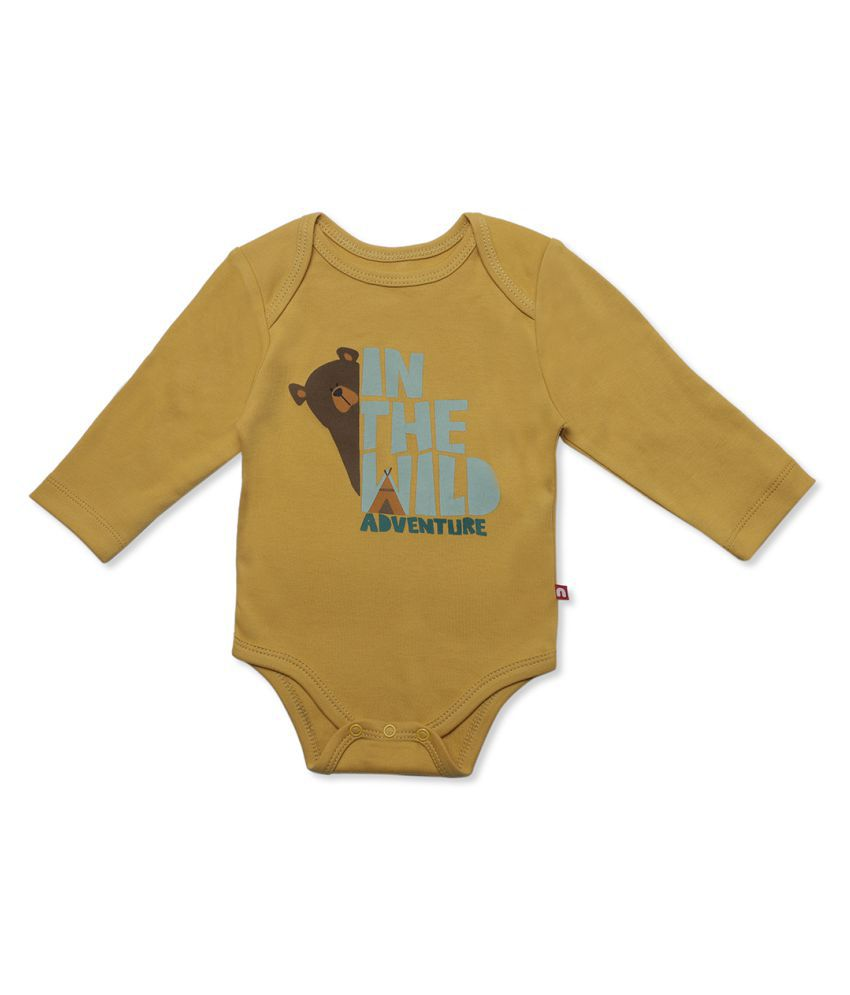 100% Organic Cotton Long Sleeve Body Suit For Kids