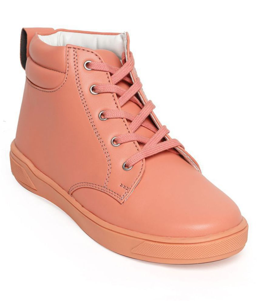 Bruno Manetti Unisex Kids Pink Faux Leather Casual Sneaker