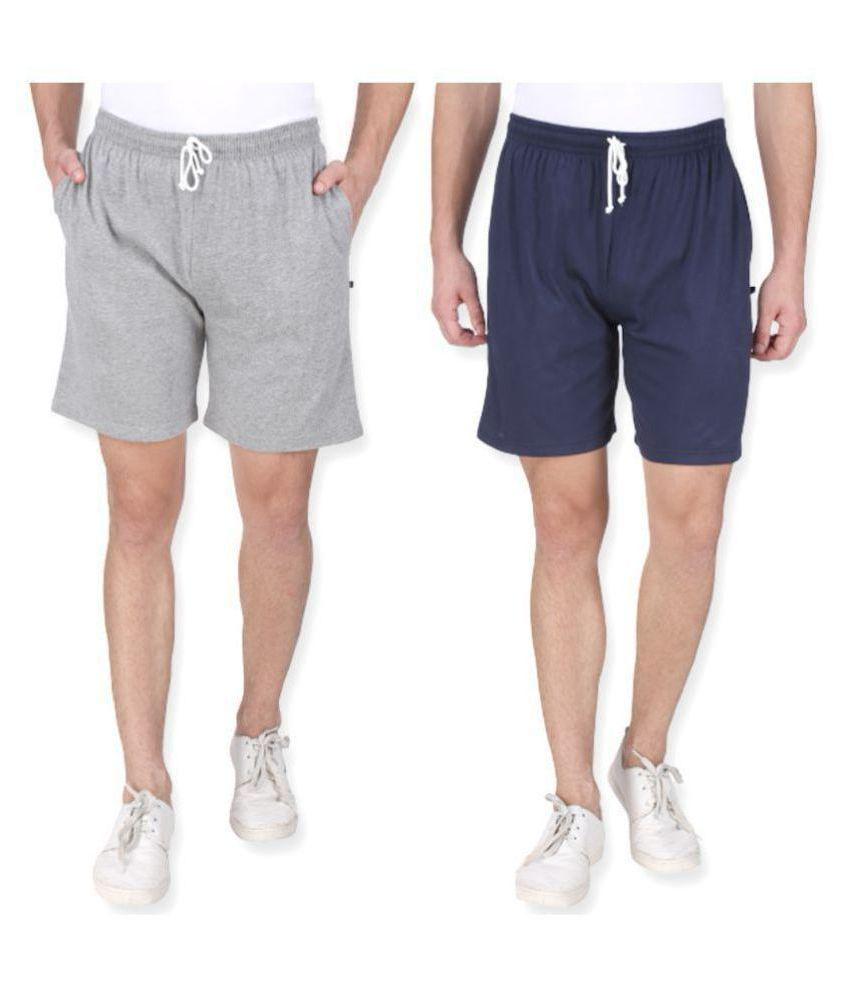 Neo Garments Multi Shorts COMBO (GREY & NAVY BLUE). M TO 7XL.