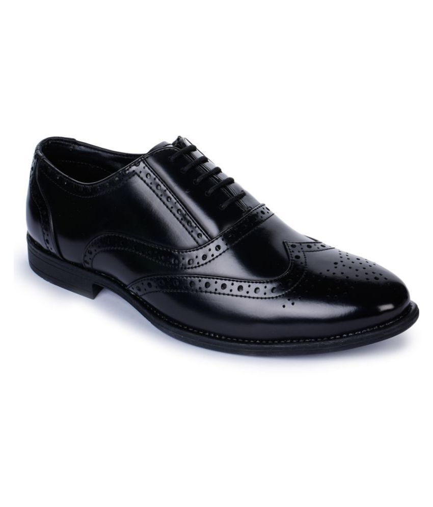Bruno Manetti Derby Genuine Leather Black Formal Shoes