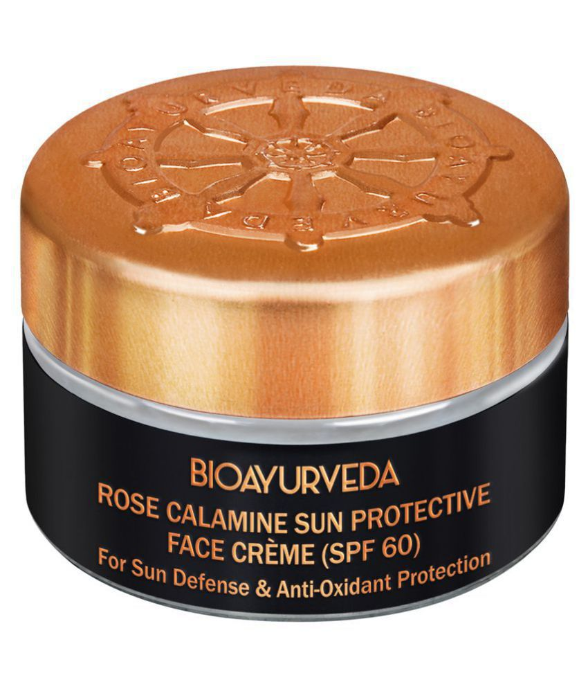 BioAyurveda Rose Sunscreen Cream SPF 60 Medium 20 g