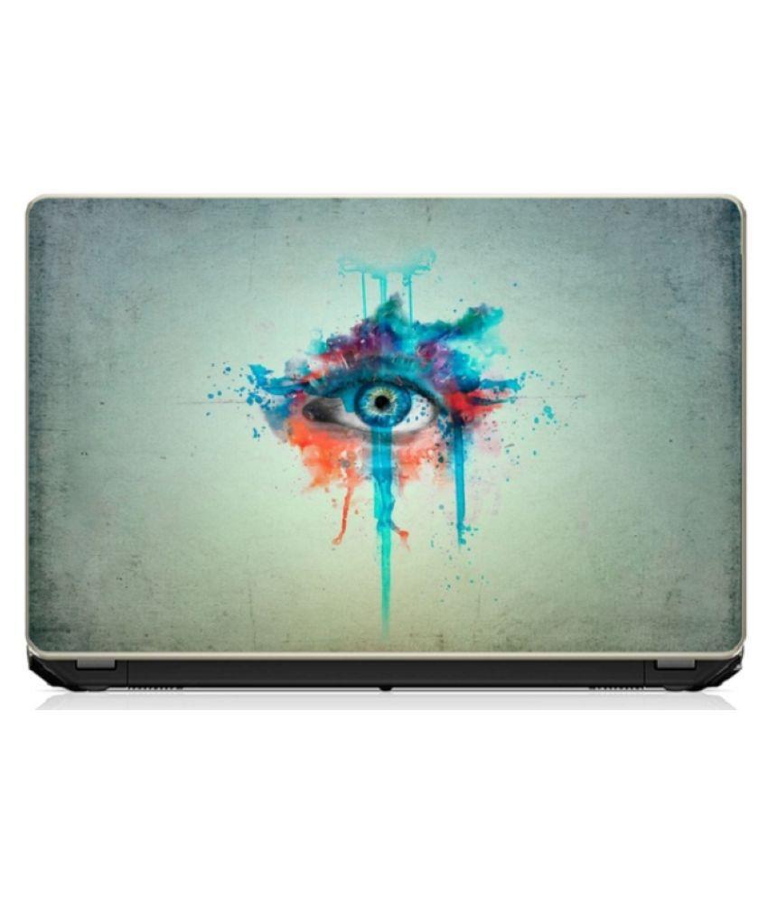 Eyes art Laptop Skin 15.6 Vinyl Vinyl Laptop Decal 15.6