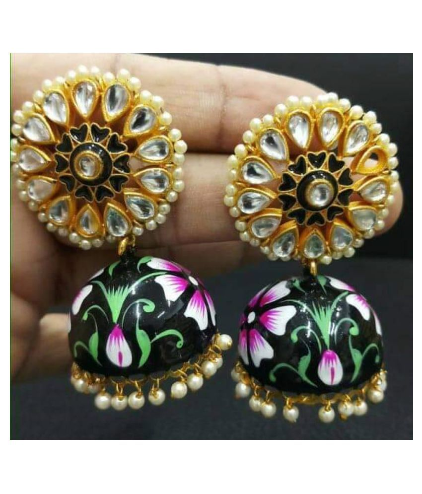 HAND PAINTED JHUMKI