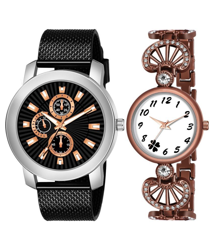 NEW K_506_849 COUPLE ANALOG QUARTZ WATCH FOR MEN AND WOMEN