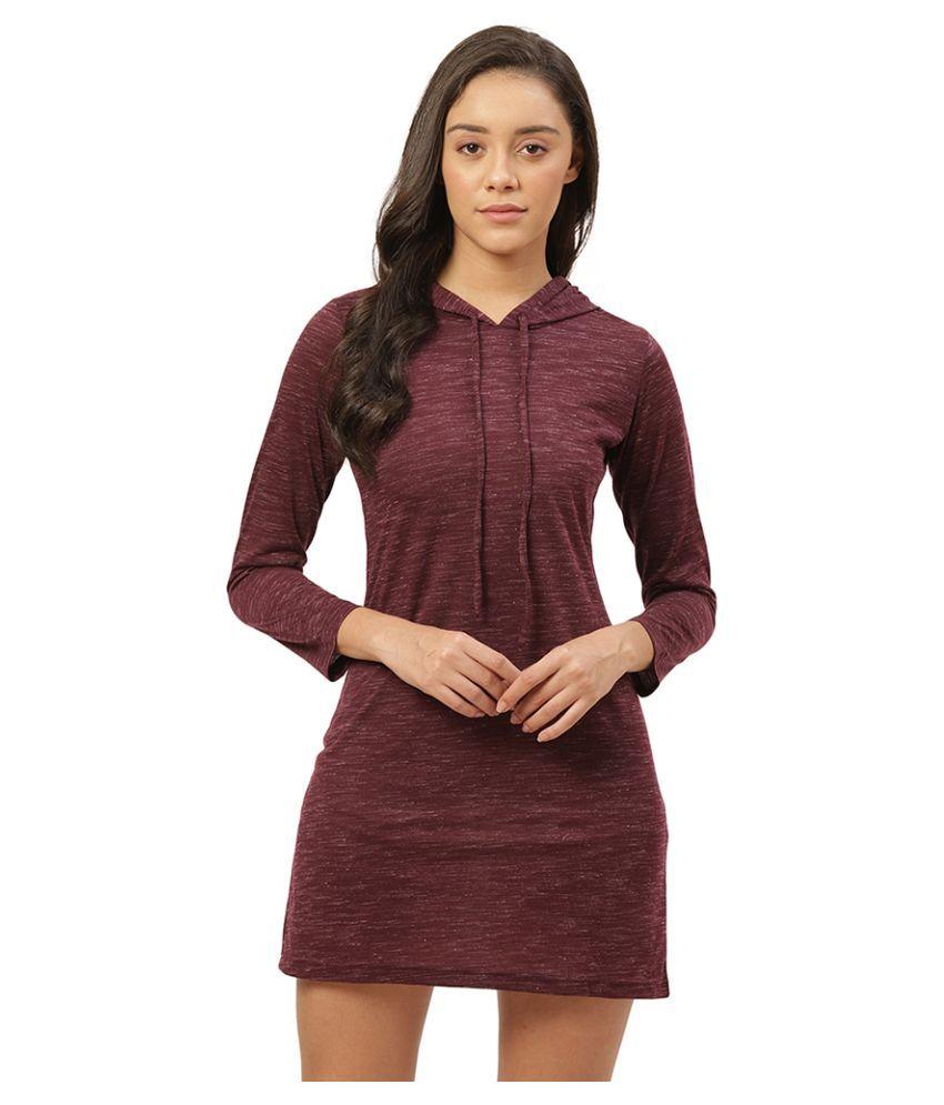 Trend Arrest Viscose Purple Bodycon Dress