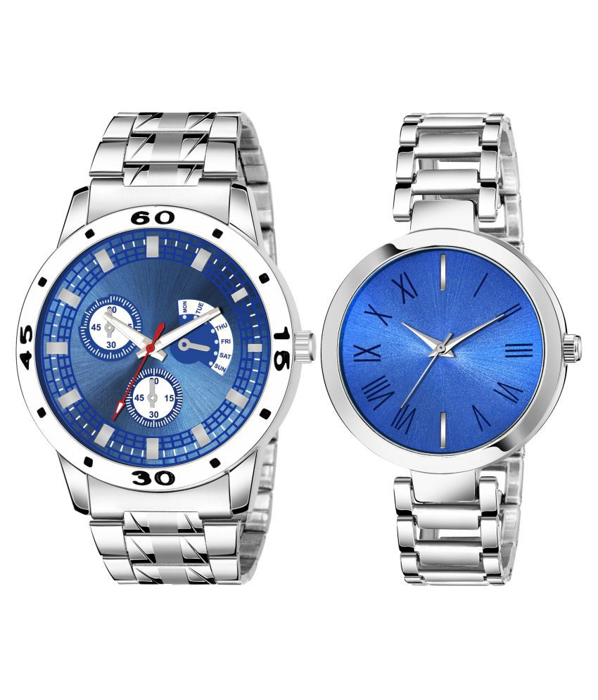 HENCY BLUE NEW ARRIVAL COUPLE ANALOG QUARTZ WATCH FOR MEN AND WOMEN