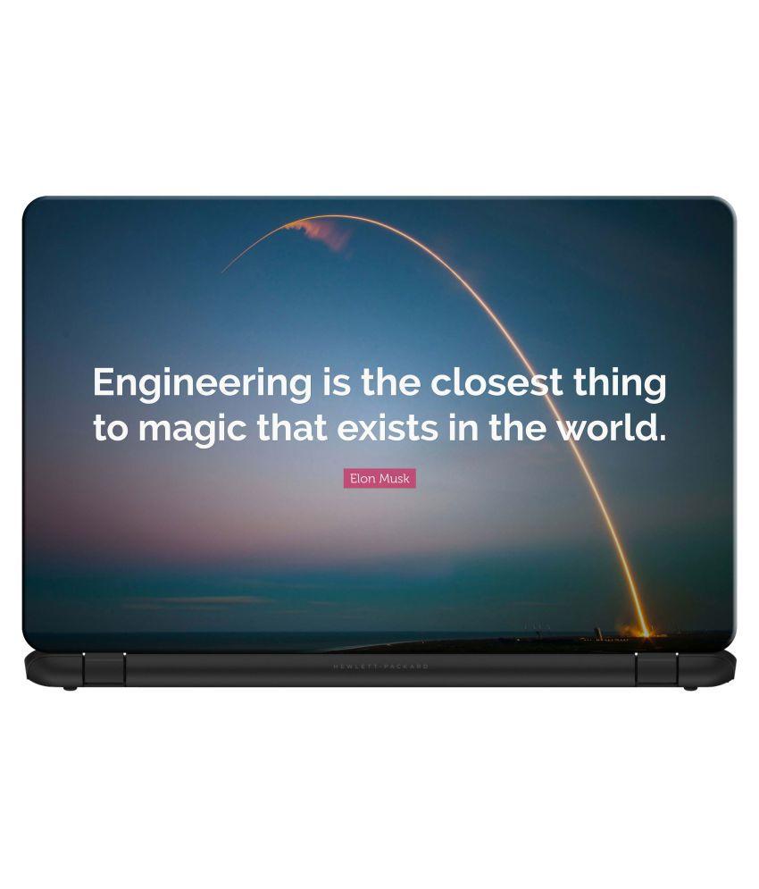 doodad Engineering is a magic Premium Vinyl Laptop Decal 15.6