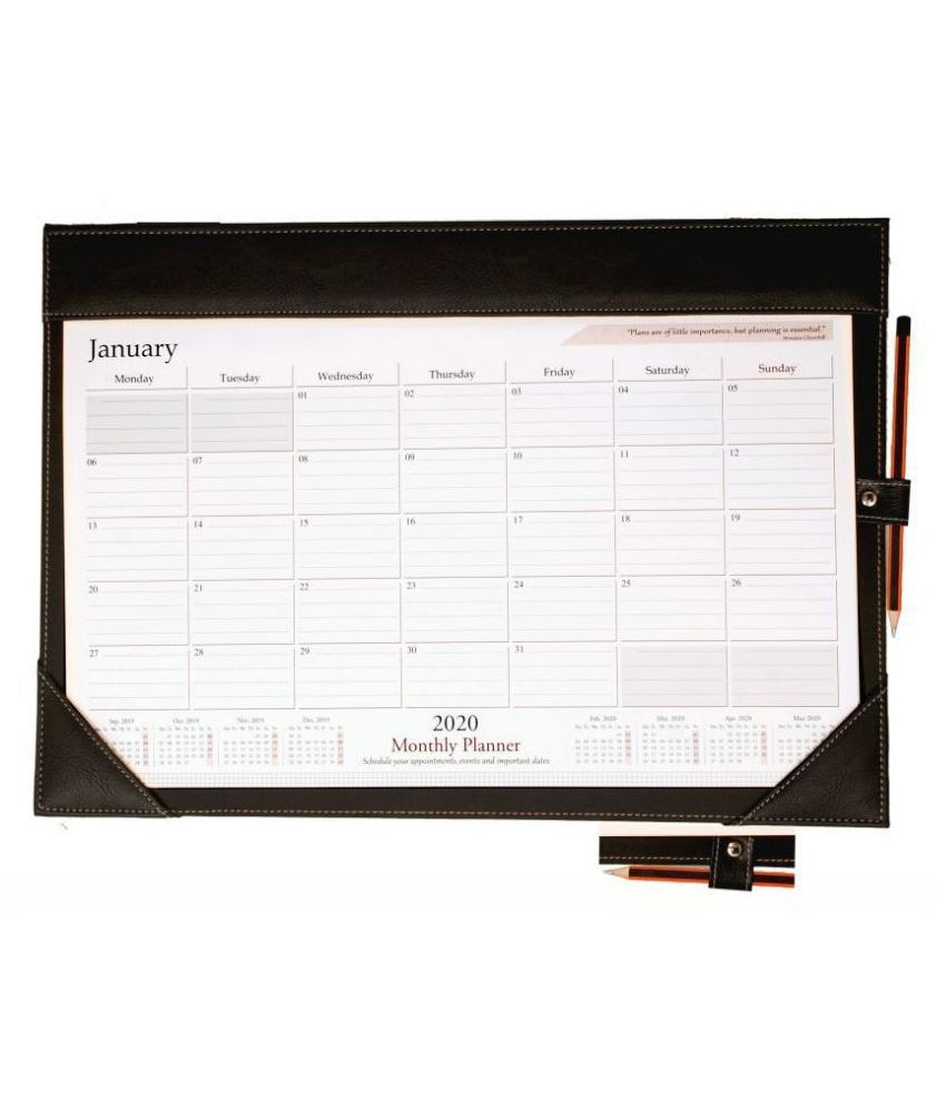 AT-A-GLANCE Monthly Desk Pad Calendar, 19