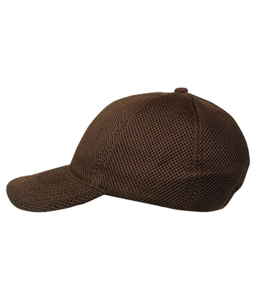 Juglie Brown Graphic Rayon Caps