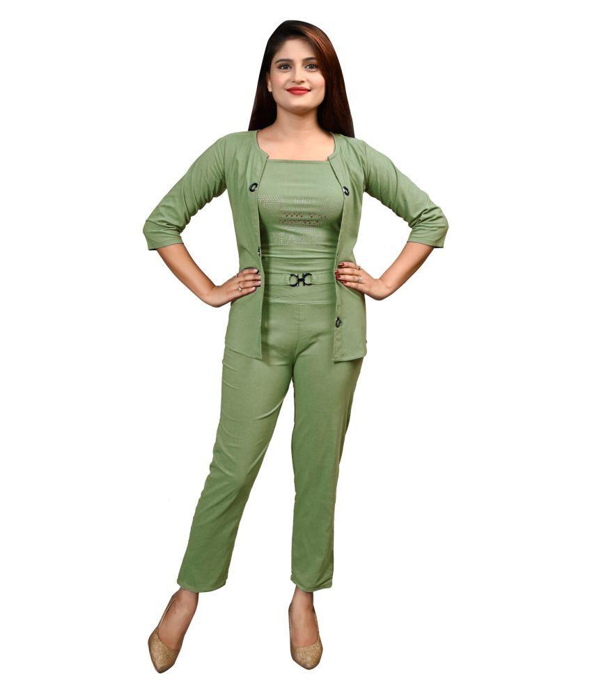 LC Hoisery Green Wrap Dress