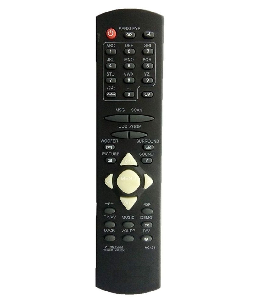Upix VC121, 200A, 200C TV Remote Compatible with Videocon CRT TV