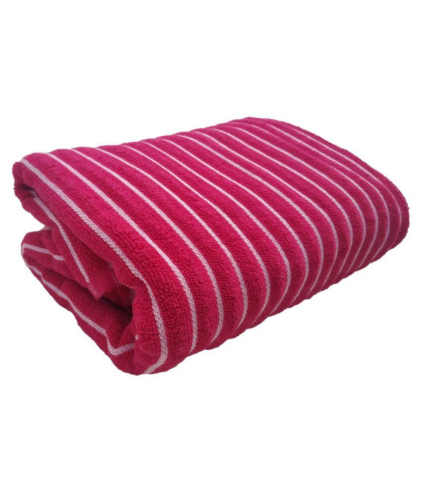 Shop by room Single Terry Bath Towel Pink