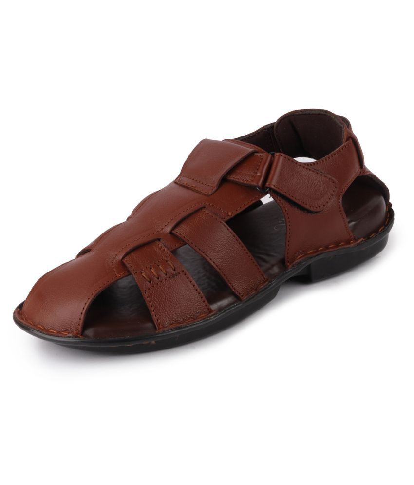 Fausto Tan Leather Sandals