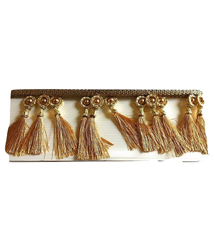 1.2 Meter Gold color Lace for Saree Pallu/Dress design