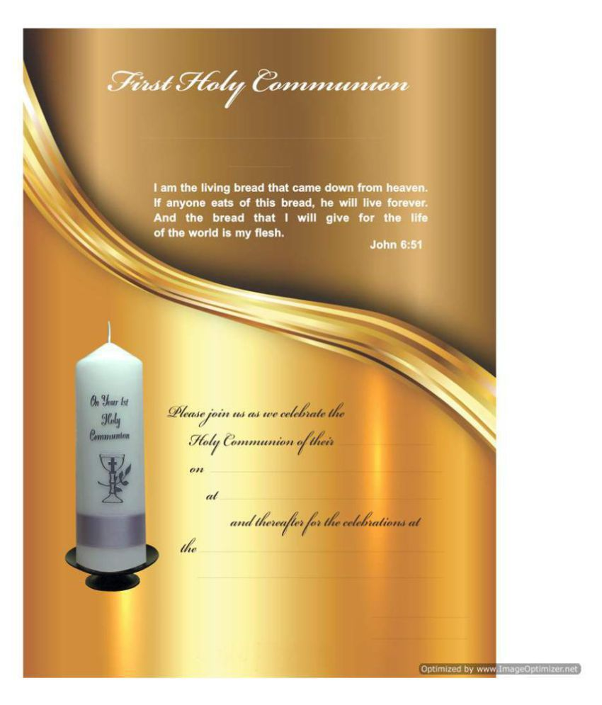 Holy Communion Themed Pack of 30 Cards – Fill in Style