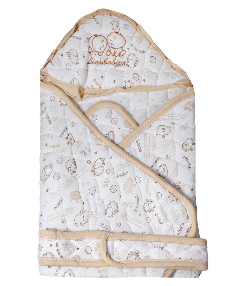 dorokids Beige Fleece Baby Wrap cum blanket ( 30 cm × 30 cm - 1 pcs)