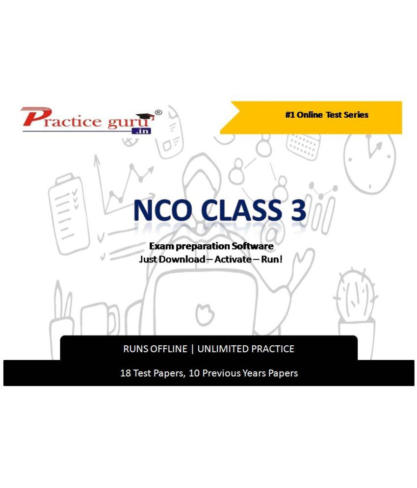 Practice Guru  18 Test ,10 Previous Years Papers  for 3 Class NCO Exam  Online Tests