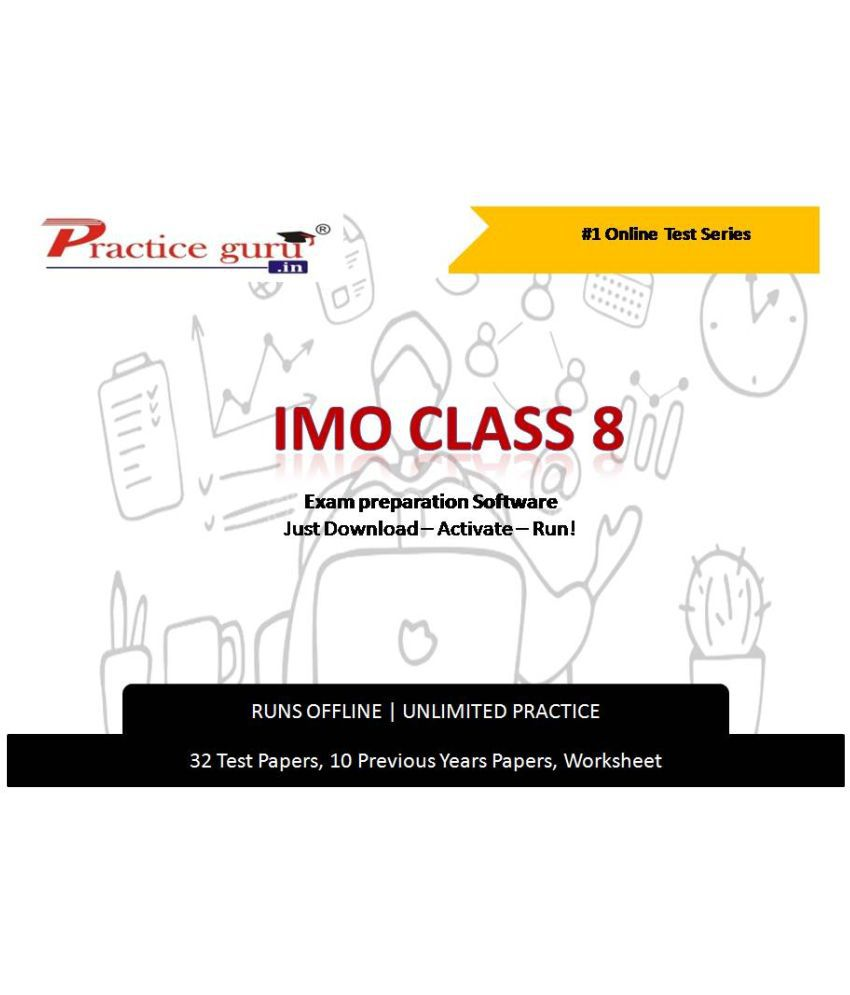 Practice Guru  32 Test ,10 Previous Years Papers,30 Worksheet (Printable-PDF) for 8 Class IMO Exam Online Tests