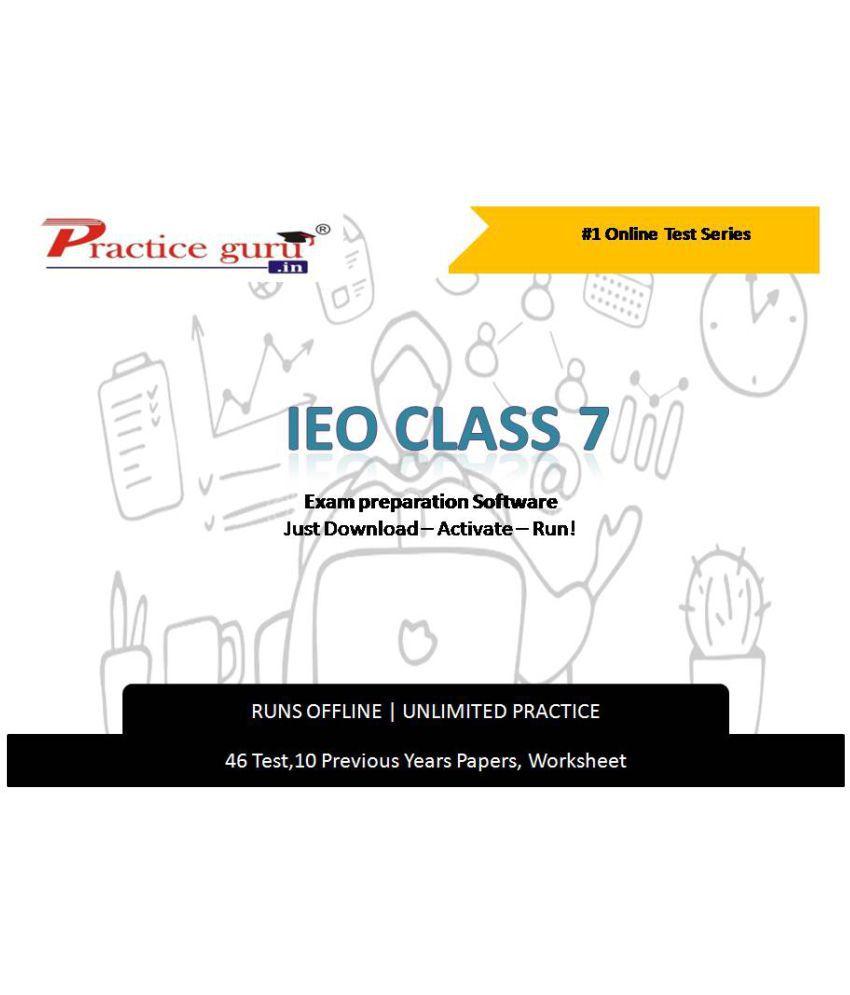 Practice Guru  46Test ,10 Previous Years Papers,20 Worksheet (Printable-PDF) for 7 Class IEO Exam  Online Tests