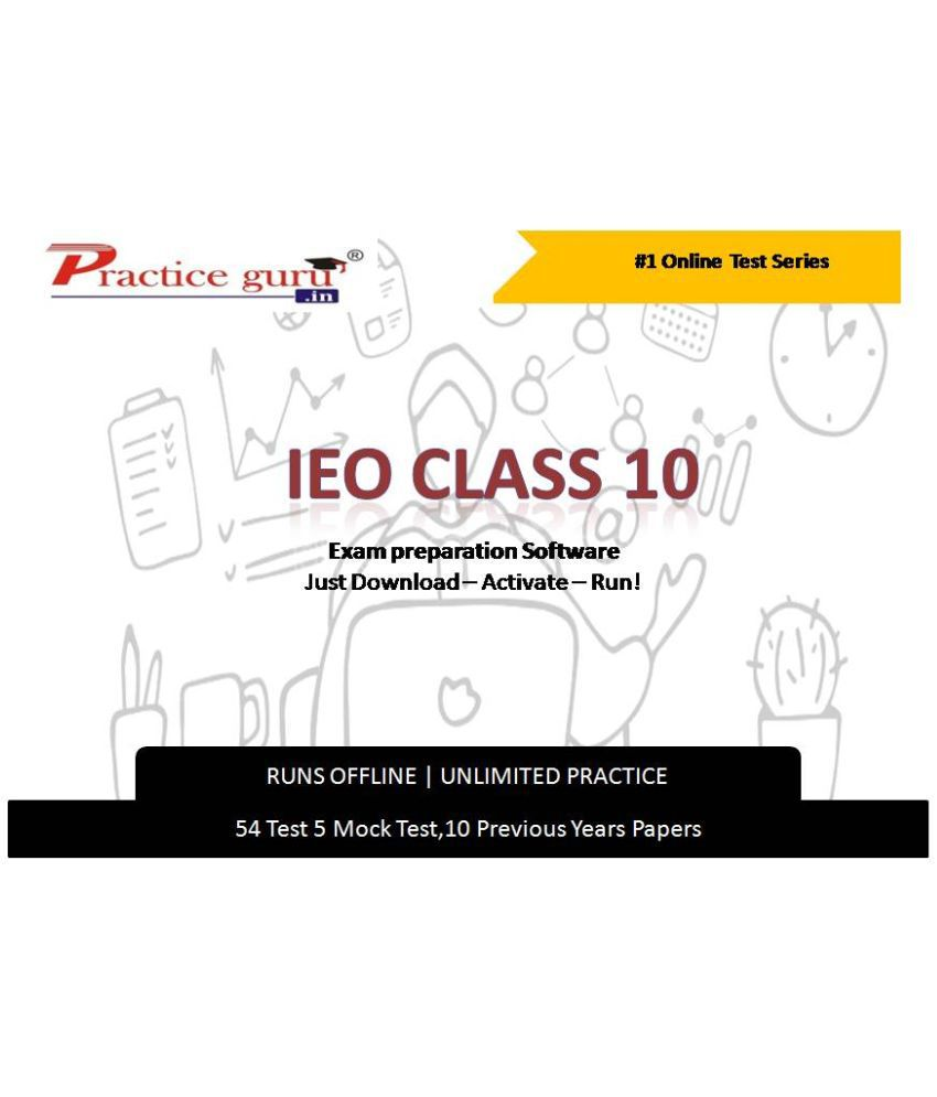 Practice Guru  54 Test 5 Mock Test,10 Previous Years Papers  for 10 Class IEO Exam  Online Tests
