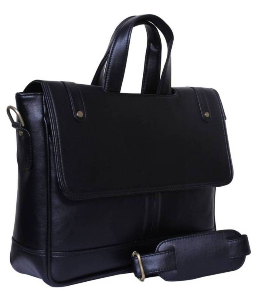 Home Story Black P.U. Office Bag