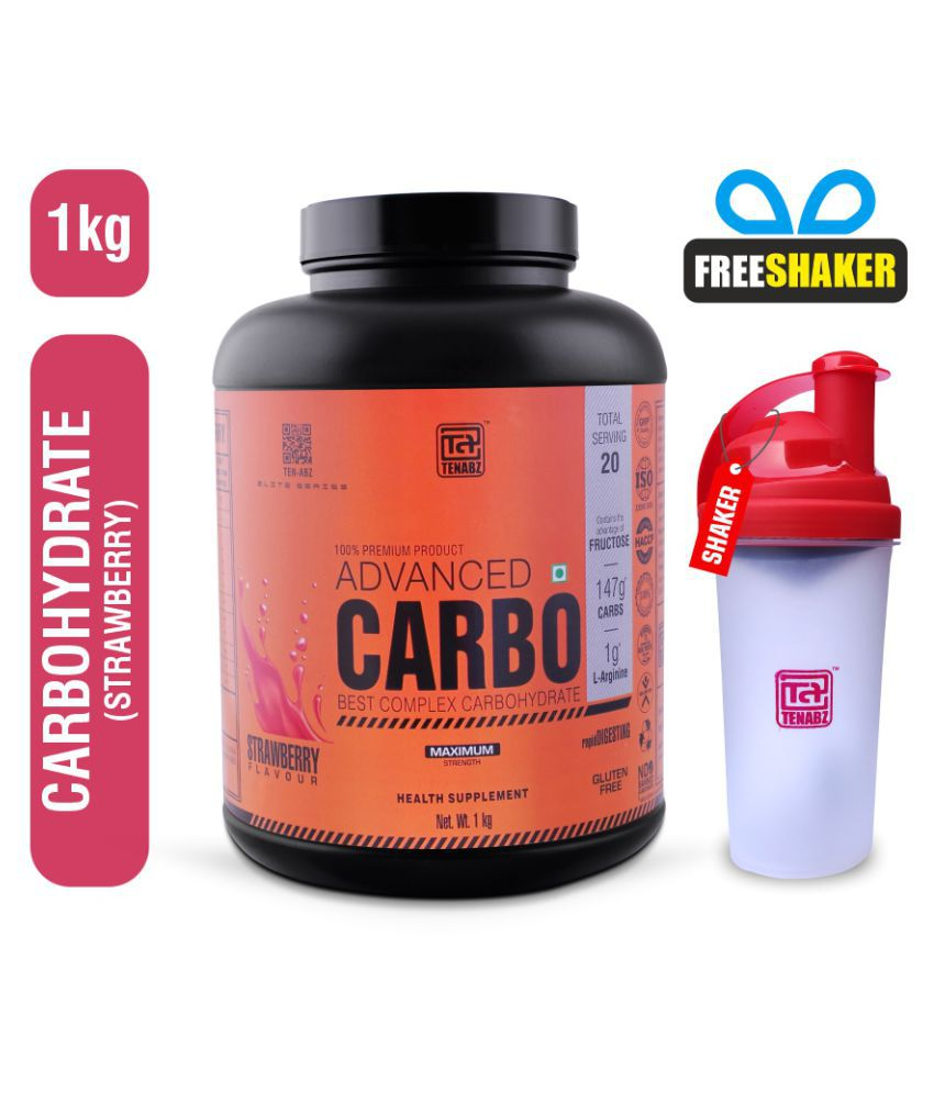 Tenabz Advanced CARBO | Weight Gainer with Shaker (700ml) 1 kg Weight Gainer Powder