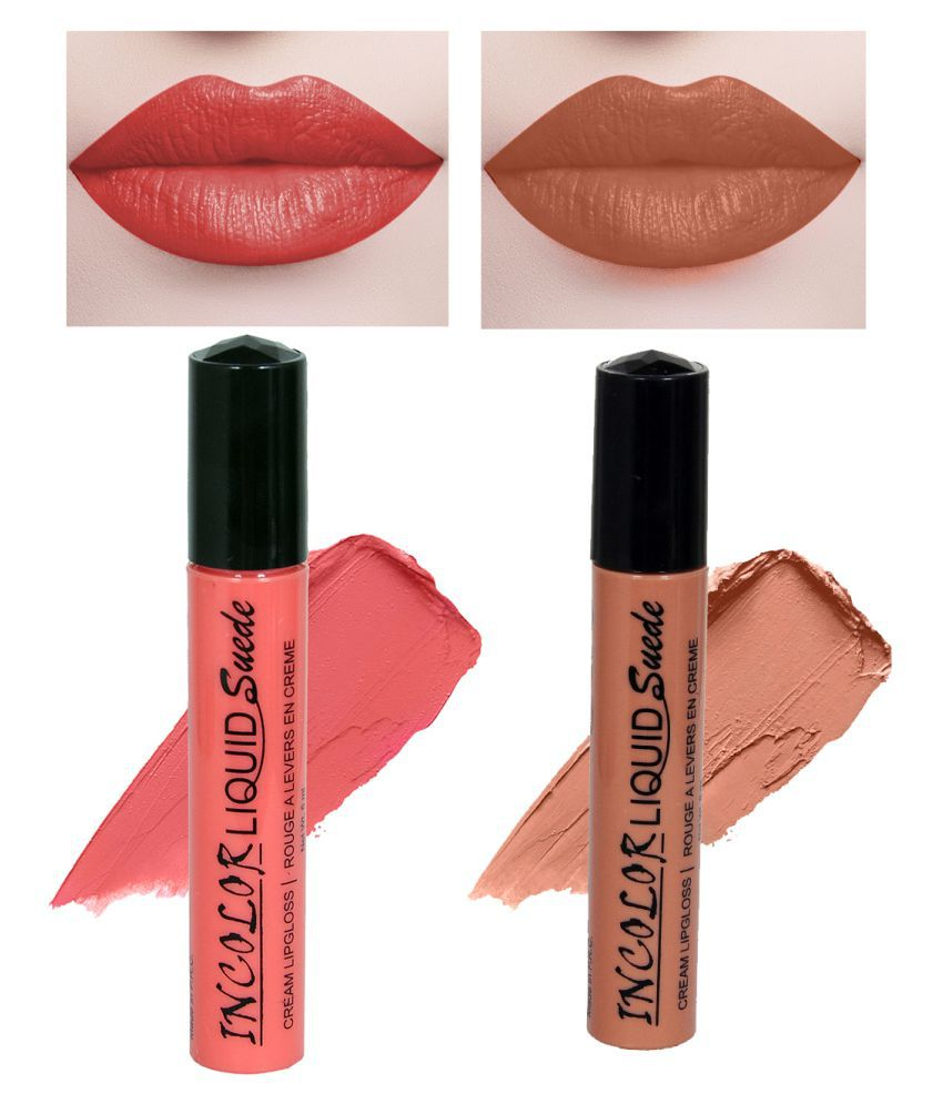 Incolor Lip Gloss Liquid Combo 01 Multi Pack of 2 6 mL