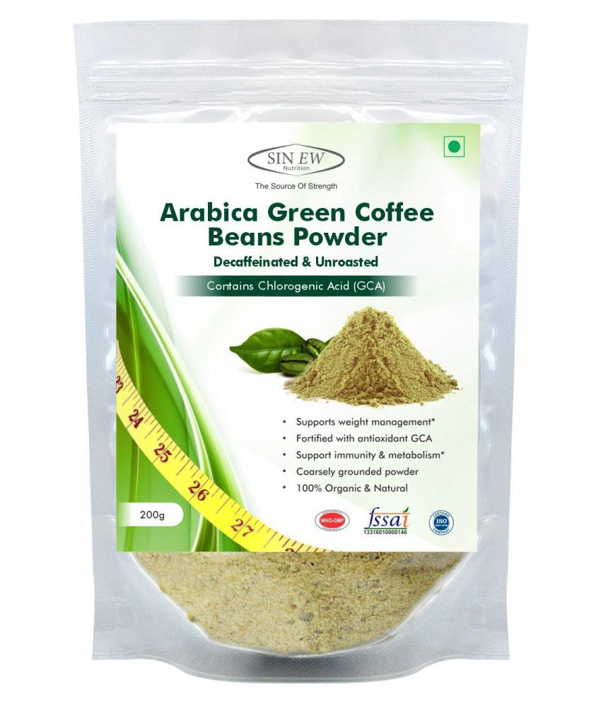 Sinew Nutrition Green Coffee Beans Powder for Weight Management 200 gm Natural