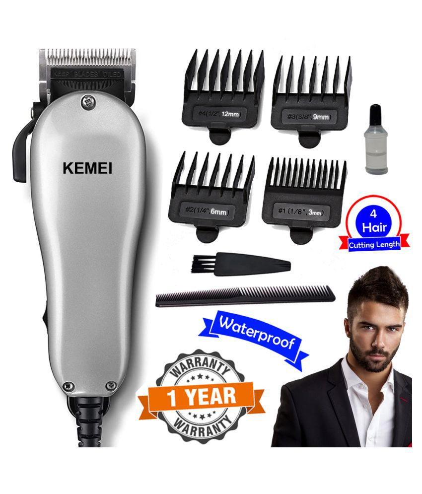 G Men's Big Powerful Waterproof Corded 9W Beard Mustache Trimmer Hair Clipper Casual Gift Set