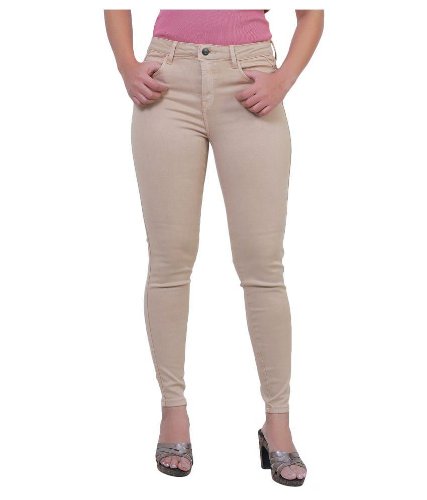 Sisney Cotton Lycra Jeans - Beige