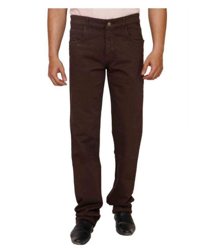 PRANKSTER Coffee Regular Fit Jeans
