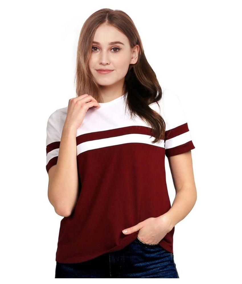 EMERA Cotton Red T-Shirts