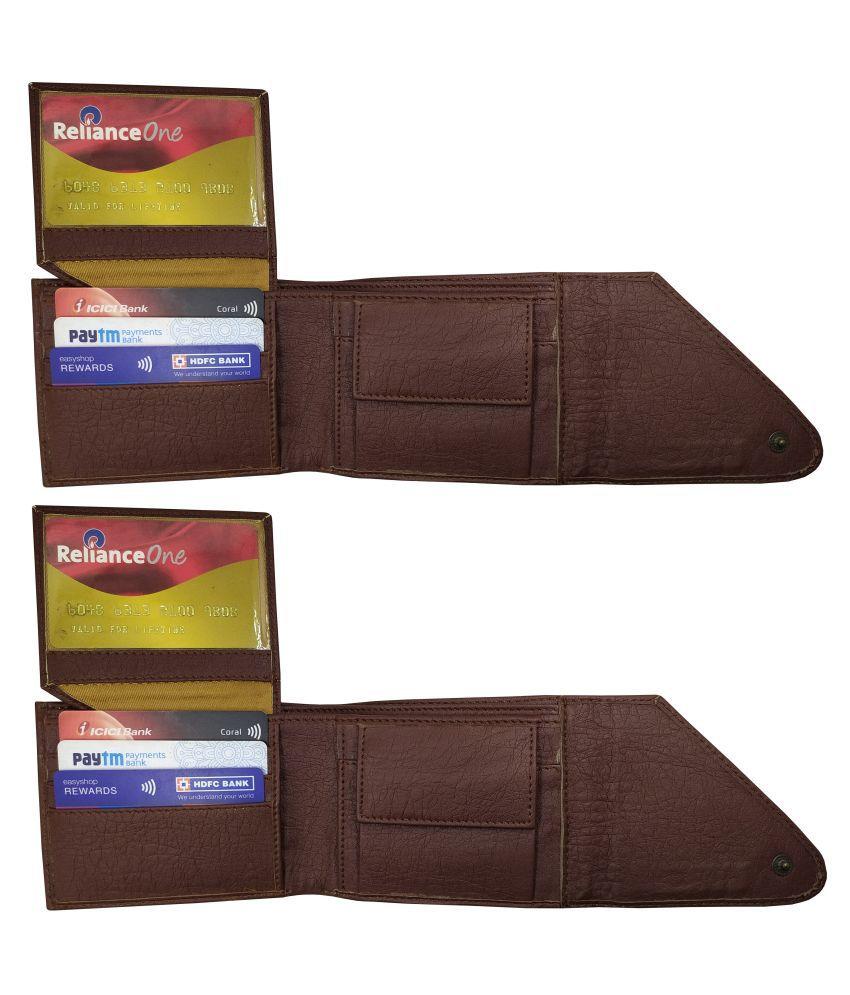 LYREM PU Brown Sport Regular Wallet
