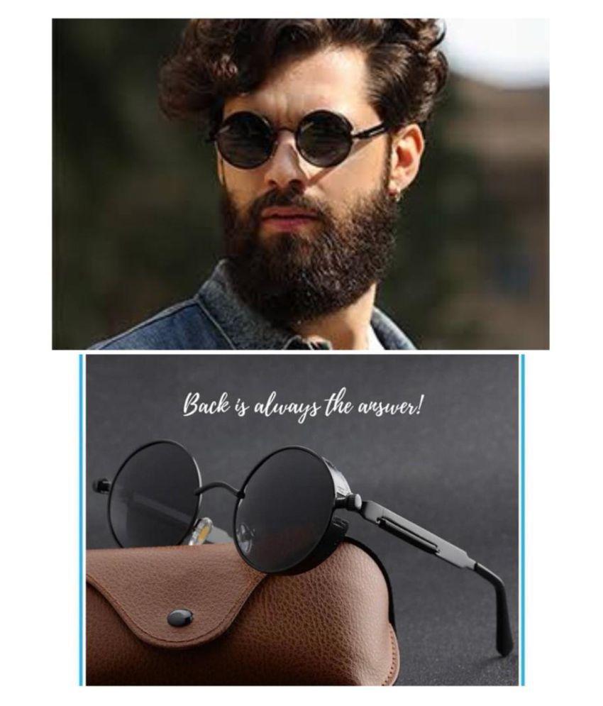 RESIST - Black Round Sunglasses ( BLACK ROUND VER )