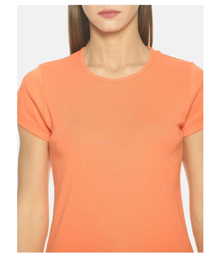 femea Cotton Orange T-Shirts