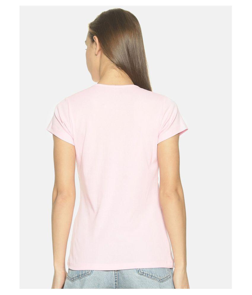 femea Cotton Pink T-Shirts