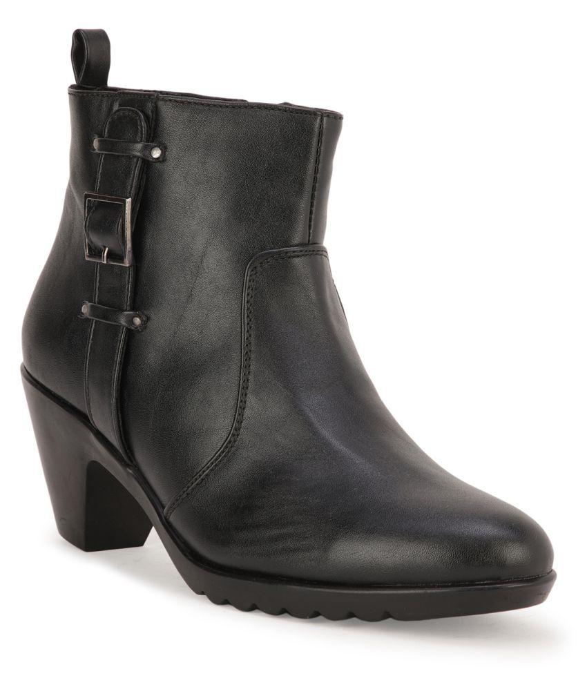 Bruno Manetti Black Mid Calf Casual Boots