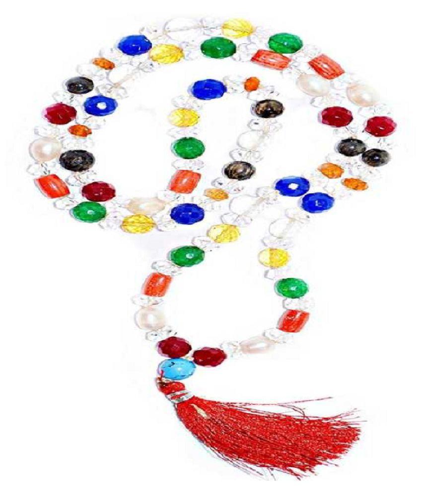 kundli gems- Original 9 Gemstone Beads Mala Effective & Precious Stone Navratna Beads Mala Fot Men & Women