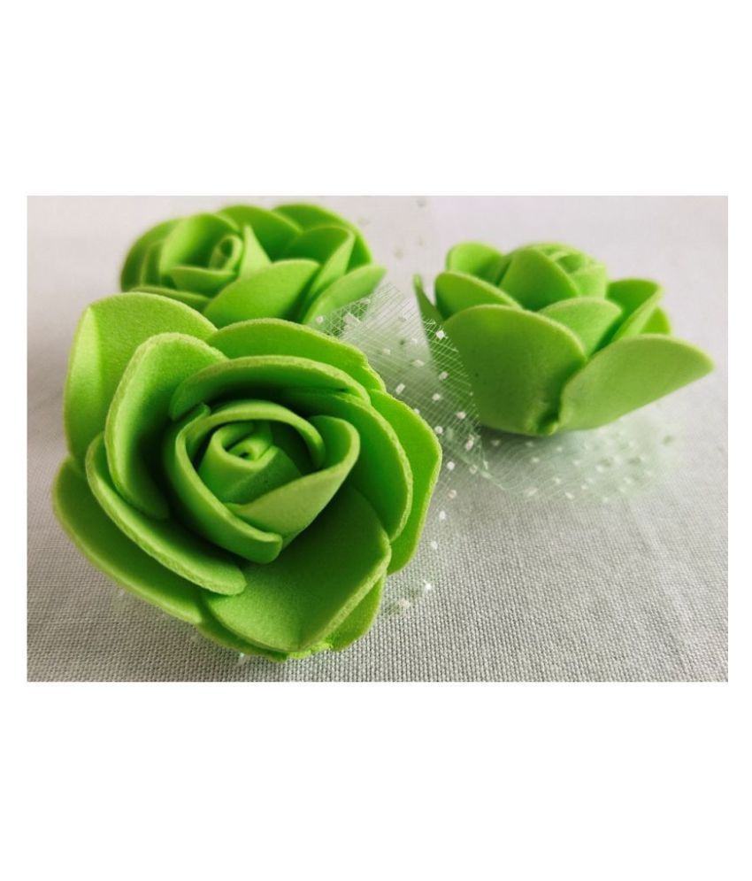 24Pcs Green Color Artificial Flower And Decoration H-0004