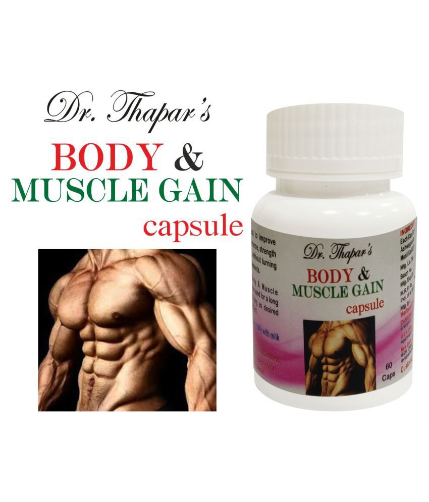 Dr. Thapar's Body and Muscle Gain HERBAL 60 Capsule 500 mg